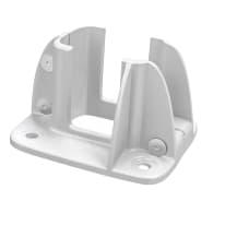 Supporto per palo Composite Premium Frangisole / Frangivista in alluminio da fissare bianco L 12x H 8