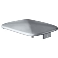 Terminale per colonna Premium in alluminio grigio H 1.7 cm