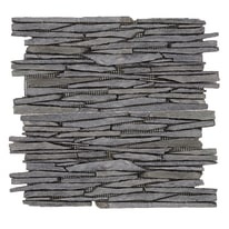 Piastrella decorativa Lamistone H 30 x L 30 cm nero
