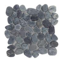 Piastrella decorativa Ciotolo H 30 x L 30 cm nero