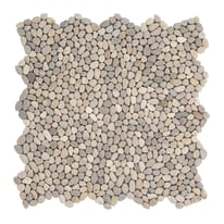 Piastrella decorativa Microsasso H 30 x L 30 cm beige