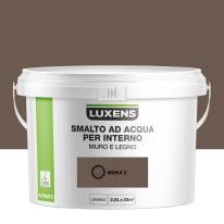 Smalto LUXENS base acqua marrone marron glacé satinato 2.5 L