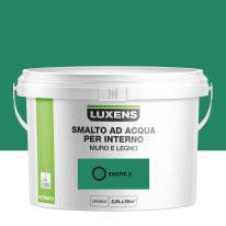 Smalto LUXENS base acqua verde esotico 2 satinato 2.5 L