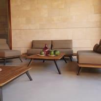 Divano Cosmo in legno colore marrone e grigio 2 posti