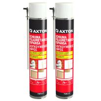 Schiuma poliuretanica AXTON Bipack bianco per porta 0,75 ml