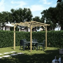 Pergola Apple in legno marrone L 300 x P 300 x H 248 cm