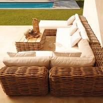 Tavolino da giardino quadrata Bora NATERIAL in legno L 82 x P 82 cm