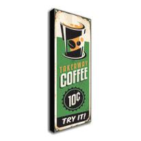 Quadro su tela Takeaway Coffee 60x20 cm