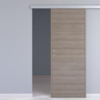 Porta scorrevole con binario esterno One gray in microtek L 80 x H 210 cm