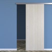 Porta scorrevole con binario esterno One ash wood in microtek L 80 x H 210 cm