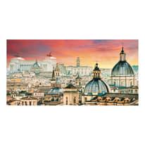 Quadro su tela Roma veduta 30x60 cm