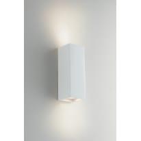 Applique gesso Foster bianco, in calcestruzzo, 7.3 cm, GU10 2xMAX28W IP20