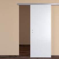Porta scorrevole con binario esterno One white in mdf laccato L 80 x H 210 cm