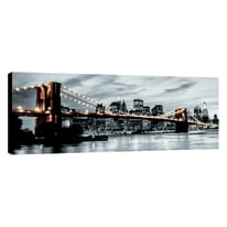 Quadro su tela Glitter Wow New York Light 145x75 cm
