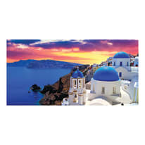 Quadro su tela Santorini 90x190 cm