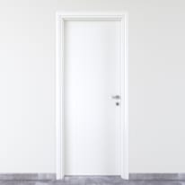 Porta a battente PVC White bianco L 90 x H 210 cm sinistra