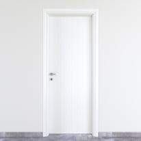 Porta a battente PVC White bianco L 90 x H 210 cm destra