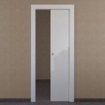 Porta scorrevole a scomparsa Massaua White bianco L 60 x H 210 cm reversibile