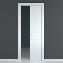 Porta scorrevole a scomparsa Seventy bianco L 70 x H 210 cm reversibile