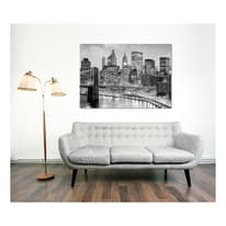Quadro su tela New York grey 95x145 cm