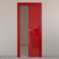 Porta scorrevole a scomparsa Massaua Red rosso L 70 x H 210 cm reversibile