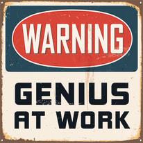 Quadro su tela Genius at work 40x40 cm