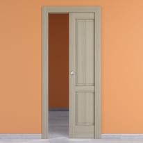Porta scorrevole a scomparsa Vermeer rovere sbiancato L 60 x H 210 cm destra