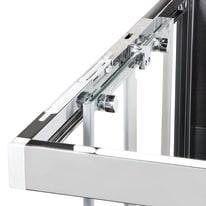 Box doccia scorrevole 145 x 80 cm, H 200 cm in vetro, spessore 6 mm serigrafato nero