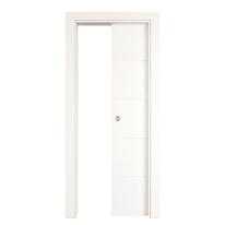 Porta scorrevole a scomparsa Prado bianco L 70 x H 210 cm reversibile