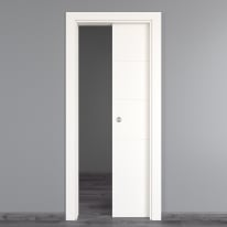 Porta scorrevole a scomparsa Prado bianco L 80 x H 210 cm reversibile