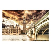 Quadro su tela London atmosphere 95x145 cm