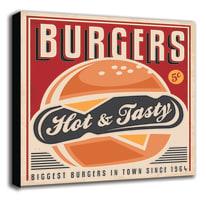 Quadro su tela Burgers 60x60 cm