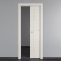 Porta scorrevole a scomparsa Ribera bianco L 70 x H 210 cm reversibile