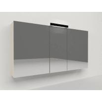Specchio contenitore con luce Key L 120 x P 15 x H 62 cm avorio laminato