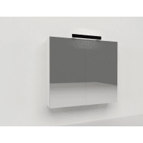 Specchio contenitore con luce Key L 70 x P 15 x H 62 cm bianco
