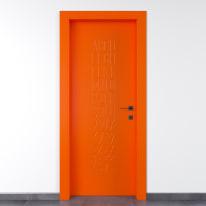 Porta a battente Keyboard Orange arancio L 90 x H 210 cm sinistra