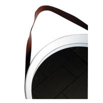 Specchio da parete tondo bianco 39.5x39.5 cm