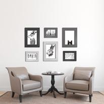 Cornice INSPIRE LAILA bianco per foto da 40x50 cm