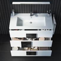 Mobile bagno Bark bianco L 105 cm