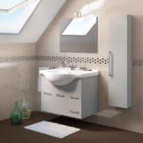 Mobile bagno Ginevra grigio L 86 cm