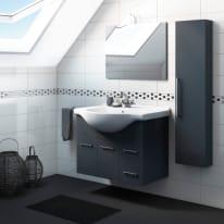 Mobile bagno Ginevra grigio grafite L 86 cm
