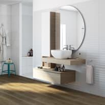 Mobile bagno Eklettica bianco L 135 cm