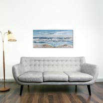 Quadro dipinto a mano Mare 120x60 cm