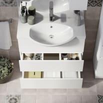 Mobile bagno Elise bianco L 80 cm