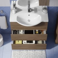 Mobile bagno Elise rovere tabacco L 80 cm