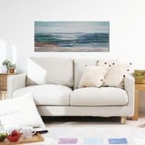 Quadro dipinto a mano Mare 150x65 cm