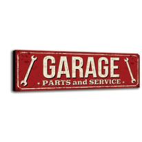 Quadro su tela Garage 60x20 cm