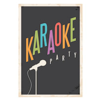 Quadro su tela Karaoke 24x35 cm