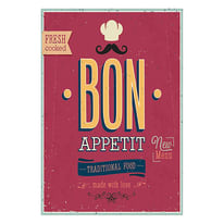 Quadro su tela Bon Appetit 35x24 cm