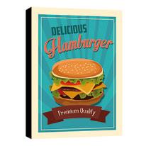 Quadro su tela Hamburger 24x35 cm